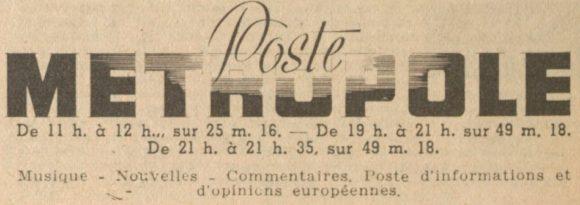 Radio-Metropol, la station très secrète des Nazis en Autriche