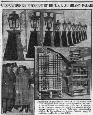 Premier salon de la radio en 1923