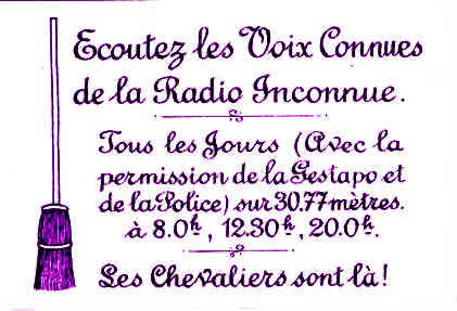 Que connaît-on de la Radio Inconnue ?