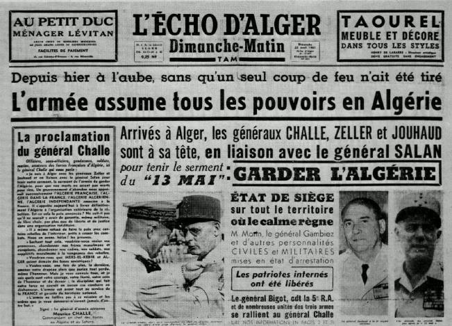 Alger avril 1961