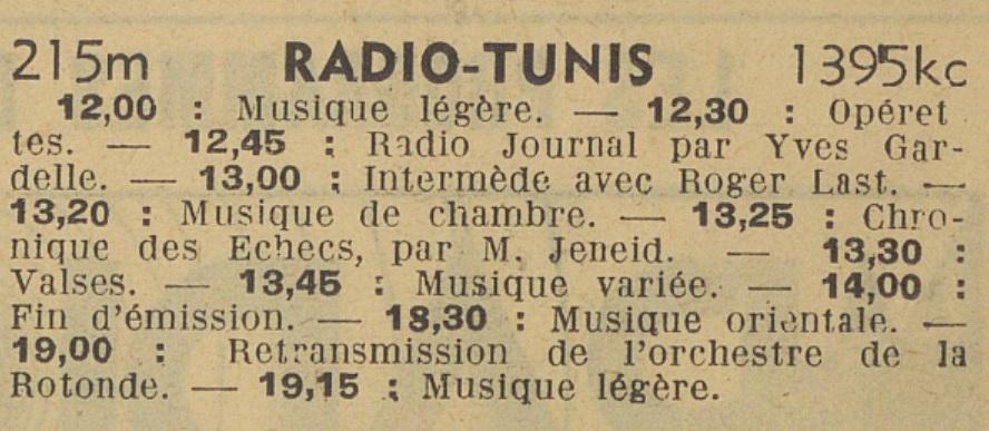 Radio Tunis 1938