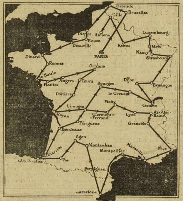 Mission autos-radio en 1923