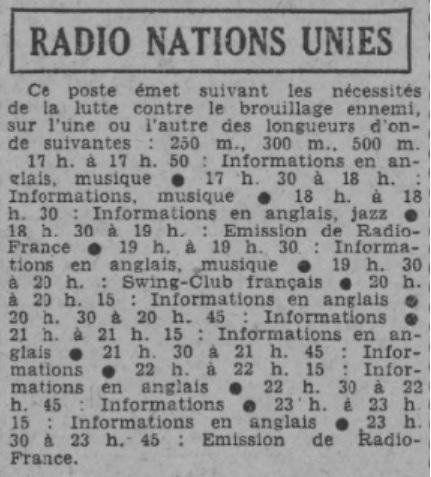Radio Nations Unies à Alger