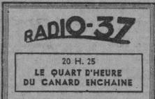 Quand le « Canard Enchaîné » proposait une émission satirique à la radio