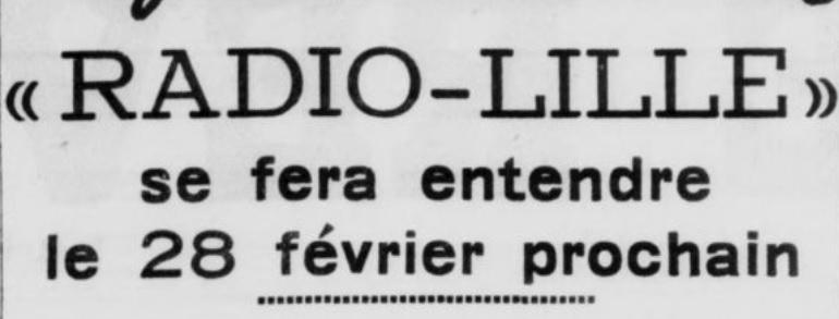 Radio-Lille pendant l'Occupation