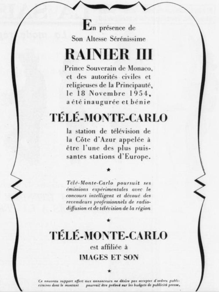 Inauguration TMC Télé Monte-Carlo